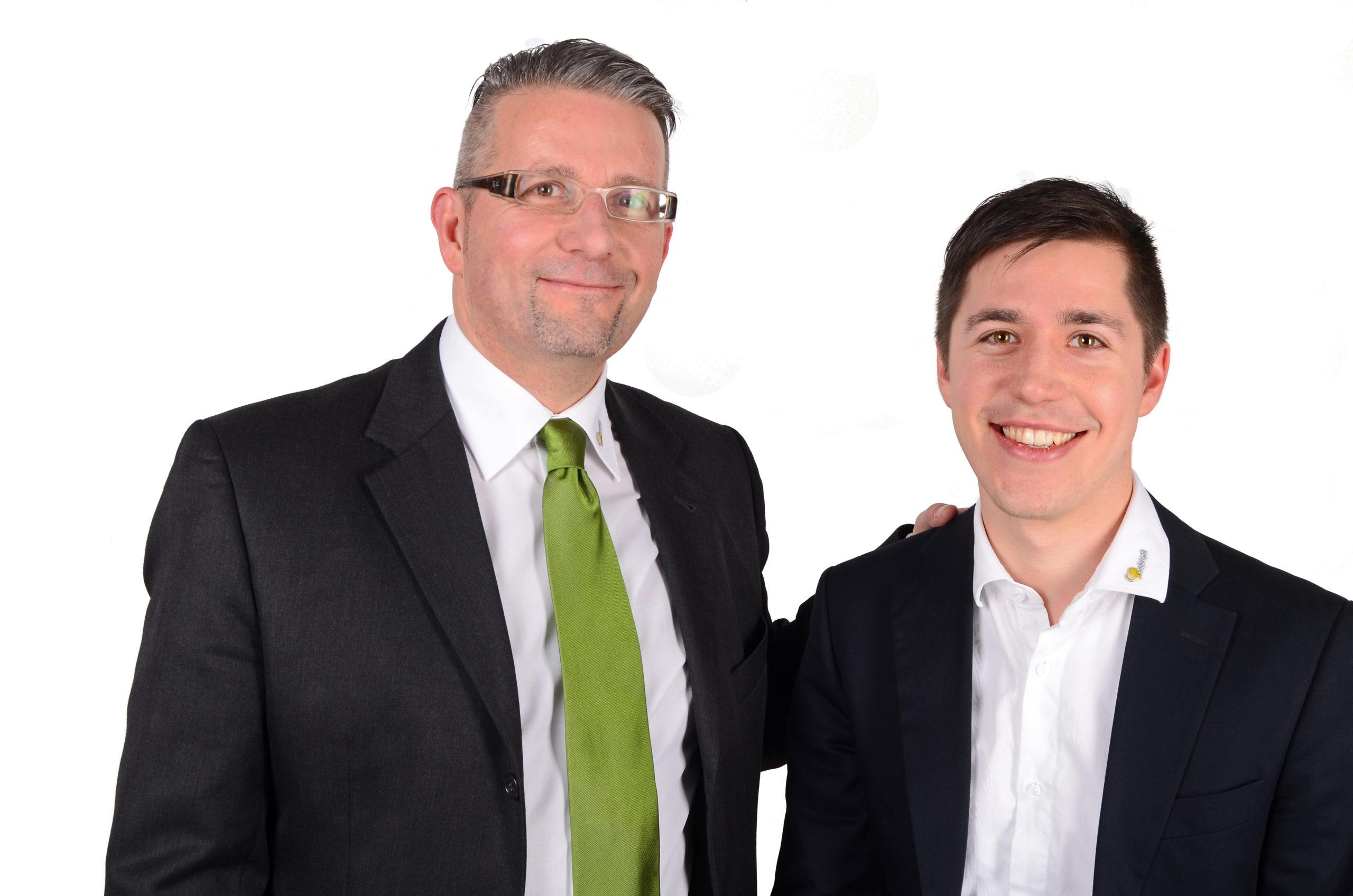 Comfort4all Team: Geschäftsführer Franz Schweidler steht neben Projektmanager Gerald Schweidler